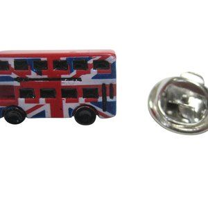 Jack London Double Decker Bus Lapel Pin